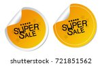 super sale stickers | Shutterstock .eps vector #721851562