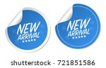 new arrival stickers | Shutterstock .eps vector #721851586