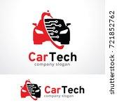 car technology logo template... | Shutterstock .eps vector #721852762