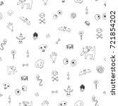 icons and halloween objects... | Shutterstock . vector #721854202