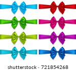 colorful realistic bows set ... | Shutterstock .eps vector #721854268