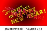 happy new year red glows ... | Shutterstock . vector #721855345