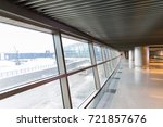 interior of the airport a large ... | Shutterstock . vector #721857676