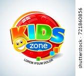 kids zone vector banner in...   Shutterstock .eps vector #721860856