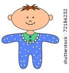 ragdoll boy  sewed from a... | Shutterstock . vector #72186232
