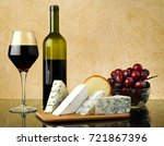 wine and cheese | Shutterstock . vector #721867396