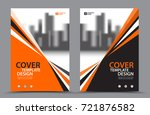 orange color scheme with city... | Shutterstock .eps vector #721876582