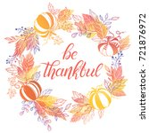 thanksgiving typography.hand... | Shutterstock .eps vector #721876972