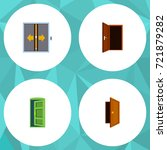 flat icon approach set of entry ... | Shutterstock .eps vector #721879282