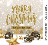 vector christmas greeting... | Shutterstock .eps vector #721881052