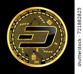 crypto currency golden coin... | Shutterstock .eps vector #721882825