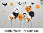happy halloween.  boo. holiday... | Shutterstock .eps vector #721884136