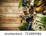 camping or adventure trip... | Shutterstock . vector #721885486