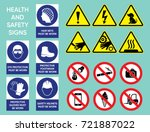 health and safety signs big... | Shutterstock .eps vector #721887022