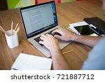 man business planning expert... | Shutterstock . vector #721887712