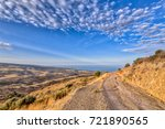 mountain road with view over...   Shutterstock . vector #721890565