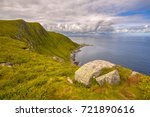 view of northcape of runde fyr... | Shutterstock . vector #721890616