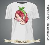 t shirt design with cartoon... | Shutterstock .eps vector #721895362