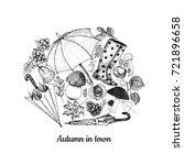 autumn sketches vector... | Shutterstock .eps vector #721896658