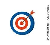 target with arrow. vector icon | Shutterstock .eps vector #721899088