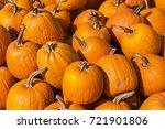 a lot of pumpkins at outdoor... | Shutterstock . vector #721901806