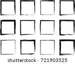 set of black grunge frames | Shutterstock .eps vector #721903525