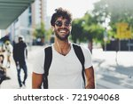 young travel blogger is ready... | Shutterstock . vector #721904068