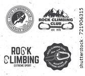 set of rock climbing club... | Shutterstock .eps vector #721906315