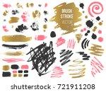 set stroke spot. brush  pen ...   Shutterstock .eps vector #721911208
