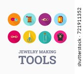 jewelry making tools icon set   ... | Shutterstock .eps vector #721911352