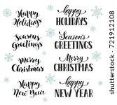 hand written new year phrases.... | Shutterstock .eps vector #721912108