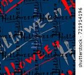 halloween seamless pattern.... | Shutterstock .eps vector #721914196