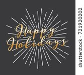 happy holidays vector text icon ... | Shutterstock .eps vector #721920202