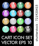 set of elegant cart icons ...