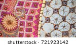 a sample of vintage tapestry... | Shutterstock . vector #721923142