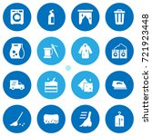 set of 16 cleanup icons set... | Shutterstock .eps vector #721923448
