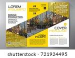 business brochure. flyer design.... | Shutterstock .eps vector #721924495