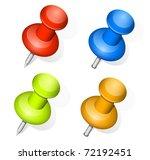 vector push pins   Shutterstock .eps vector #72192451