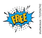 comic speech bubble with... | Shutterstock .eps vector #721926742