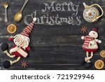 merry christmas greeting card... | Shutterstock . vector #721929946