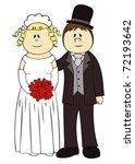 wedding couple. | Shutterstock .eps vector #72193642