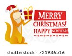 merry christmas and happy new... | Shutterstock .eps vector #721936516