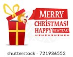 merry christmas and happy new... | Shutterstock .eps vector #721936552
