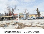 Small photo of Philipsburg hurricane Irma made considerable damages to homes and beaches on the st.maarten