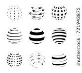 black and white sphere logo set ... | Shutterstock .eps vector #721943872