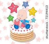 baby birthday illustration   Shutterstock .eps vector #72194413