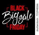 abstract vector black friday... | Shutterstock .eps vector #721948066