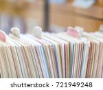 interior of a library | Shutterstock . vector #721949248