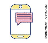 smartphone technology with chat ... | Shutterstock .eps vector #721950982