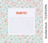 diabetes concept with thin line ... | Shutterstock .eps vector #721951096